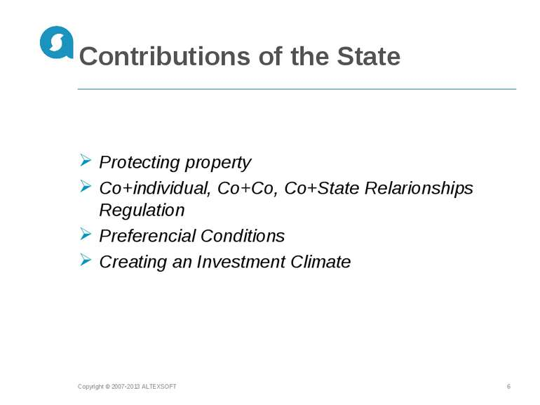 Contributions of the State Copyright © 2007-2013 ALTEXSOFT * Protecting prope...