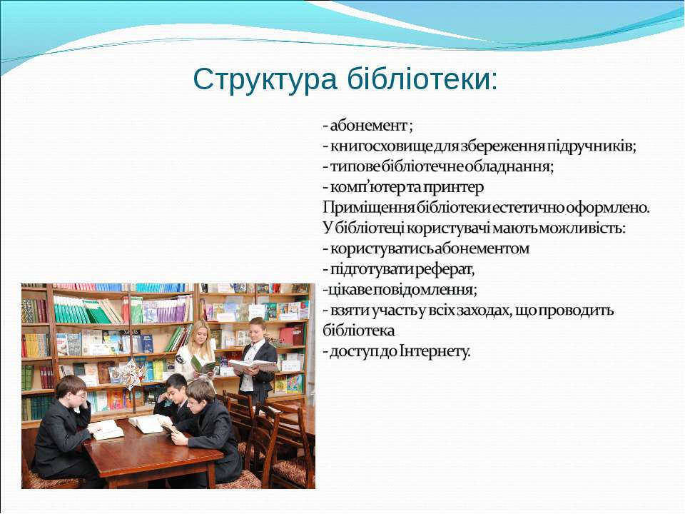 Структура бібліотеки: