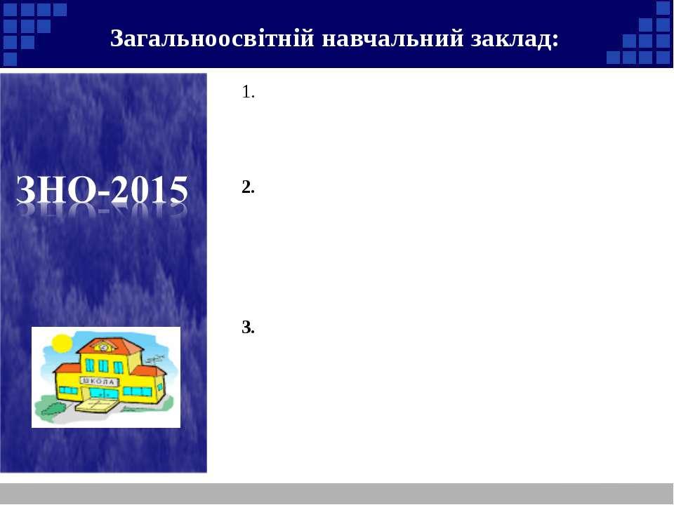Загальноосвітній навчальний заклад: Після отримання реєстраційних документів ...
