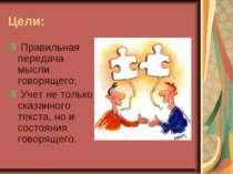Цели: Правильная передача мысли говорящего; Учет не только сказанного текст...