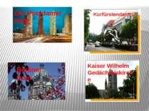 Kurfürstendamm Berliner Dom Der Potsdamer Platz Kaiser Wilhelm Gedächtniskirche
