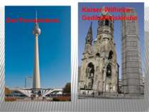 Der Fernsehturm Kaiser-Wilhelm-Gedächtniskirche