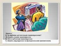 Вкажіть: А) Чи відбиває ця ілюстрація правовідносини? Б) Назвіть ознаки право...