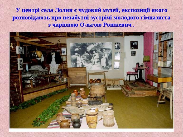 У центрі села Лолин є чудовий музей, експозиції якого розповідають про незабу...