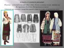 ПЛАХТА ІЗ ПОПЕРЕДНЕЦЕЮ Плахта – жіночий поясний одяг із двох довгих вовняних ...