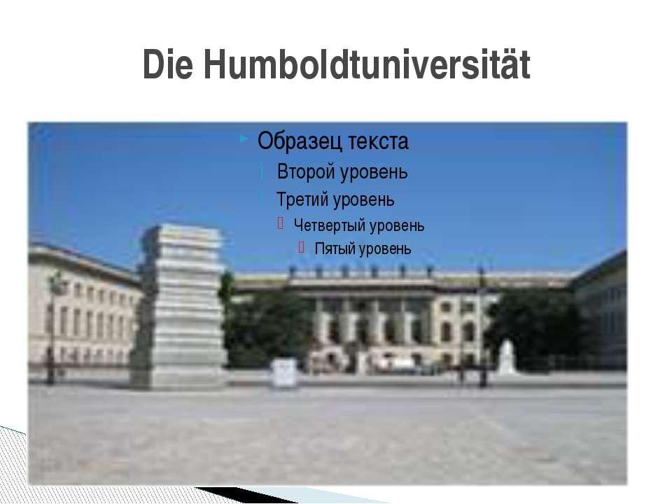 Die Humboldtuniversität