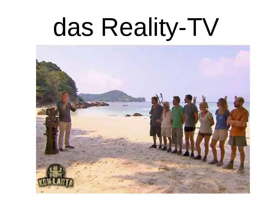 das Reality-TV
