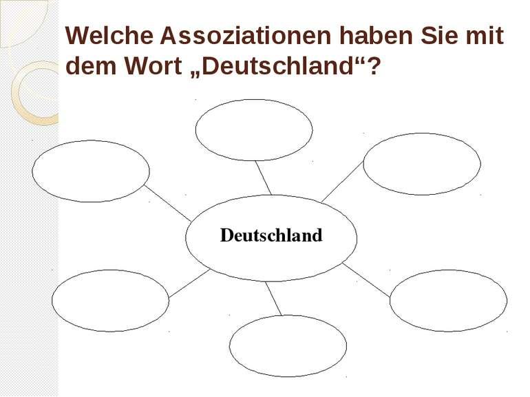 """Welche Assoziationen haben Sie mit dem Wort """"Deutschland""""? Deutschland"""