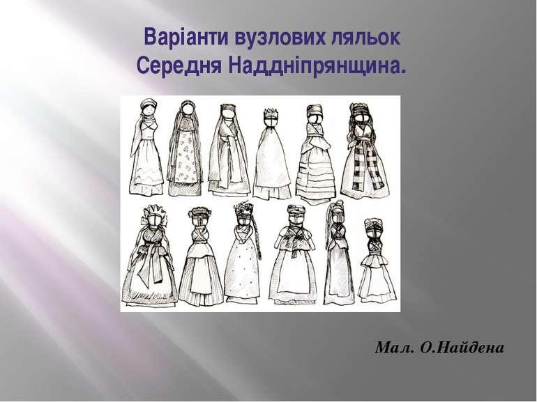 Варіанти вузлових ляльок Середня Наддніпрянщина. Мал. О.Найдена