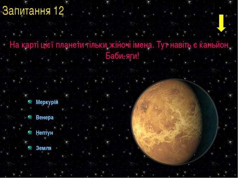 На карті цієї планети тільки жіночі імена. Тут навіть є каньйон Баби-яги! Мер...