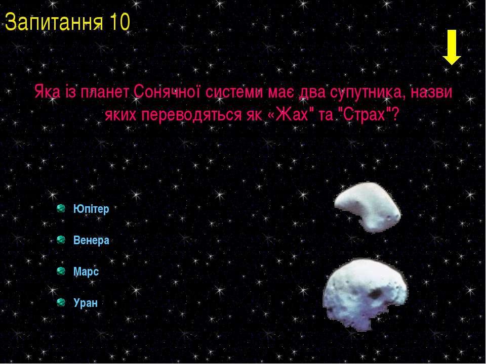 Яка із планет Сонячної системи має два супутника, назви яких переводяться як ...