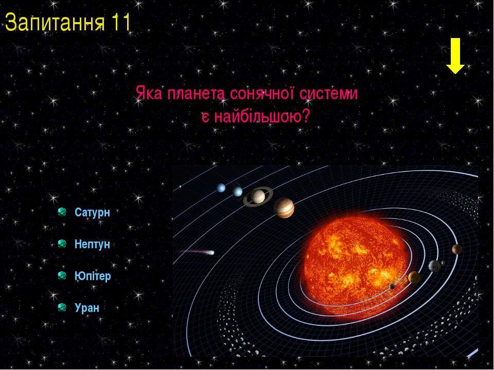 Яка планета сонячної системи є найбільшою? Сатурн Нептун Юпітер Уран Запитанн...