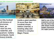 Shopping at Dubai: Major shopping areas in the capital of the Middle East tra...