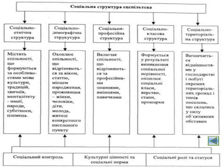 Загальні риси соціальної структури: Багатоманітність соціальних елементів, що...
