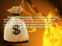 Підприємницьке право — це система правових норм, які регулюють суспільні відн...