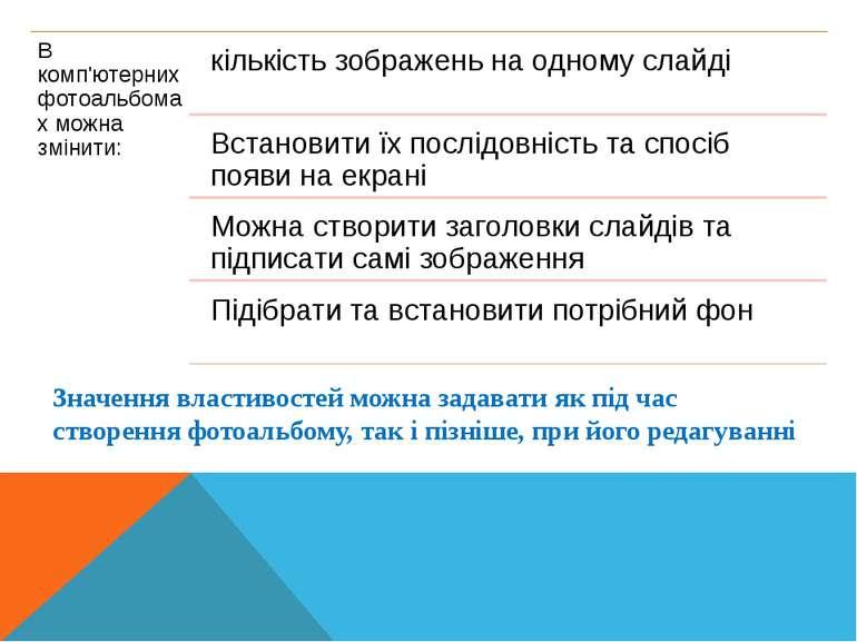 Кравчук Г.Т., http://sayt-portfolio.at.ua Значення властивостей можна задават...