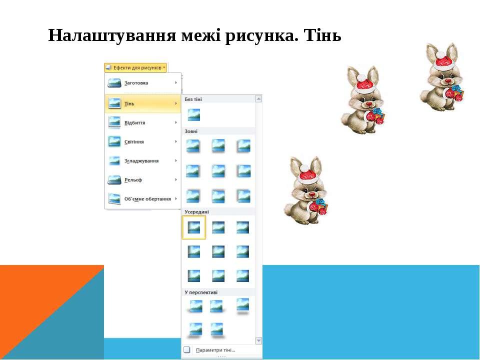 Інформатика 5 клас Налаштування межі рисунка. Тінь
