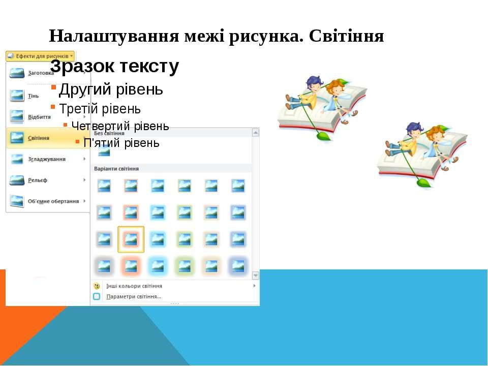 Інформатика 5 клас Налаштування межі рисунка. Світіння