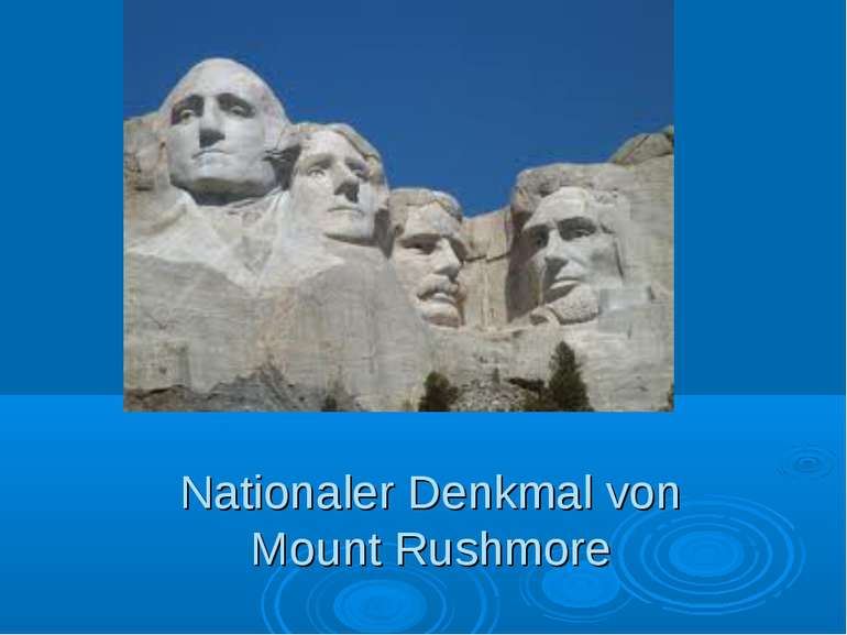 Nationaler Denkmal von Mount Rushmore
