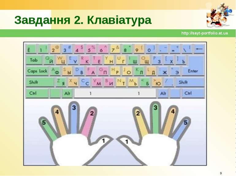 Завдання 2. Клавіатура * http://sayt-portfolio.at.ua http://sayt-portfolio.at.ua