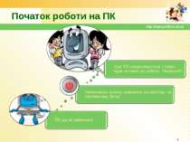 Початок роботи на ПК * http://sayt-portfolio.at.ua http://sayt-portfolio.at.ua