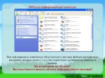 Вся інформація в комп'ютері зберігається у вигляді файлів (документи, малюнки...