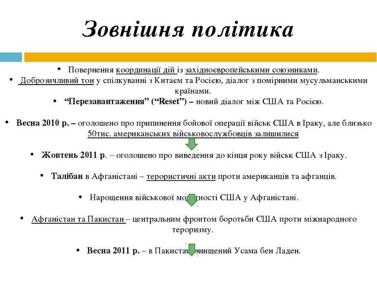 Зовнішня політика Повернення координації дій із західноєвропейськими союзника...
