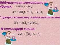 Відбувається мимовільно в рідинах: У процесі контакту з агресивним газом: В а...