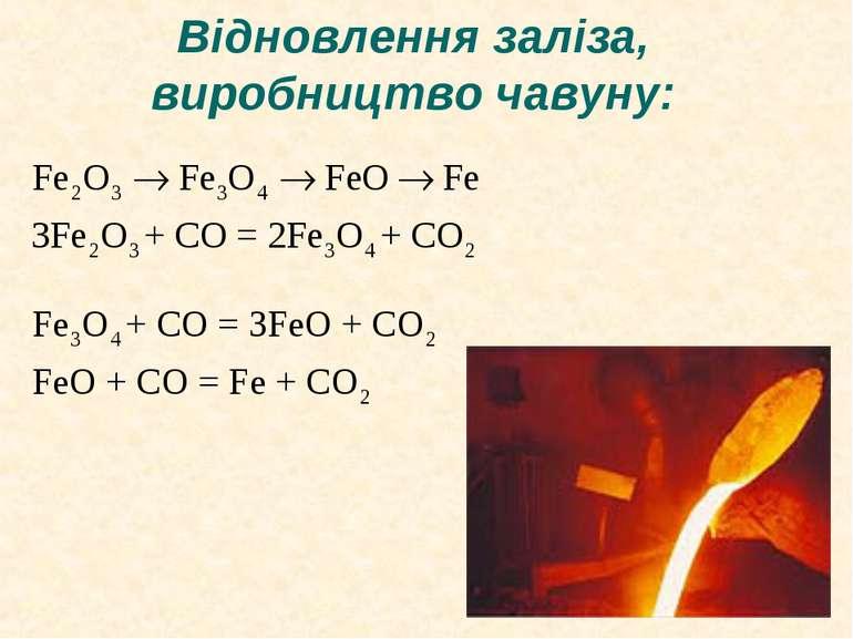 Відновлення заліза, виробництво чавуну: