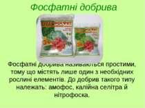 Фосфатні добрива називаються простими, тому що містять лише один з необхідних...