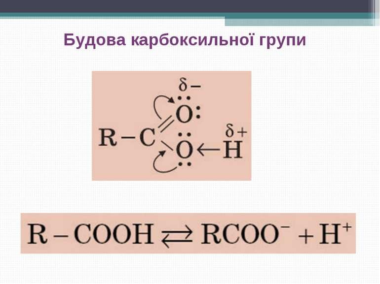 Будова карбоксильної групи