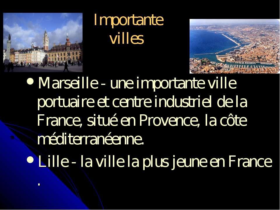 Importante villes Marseille - une importante ville portuaire et centre indust...