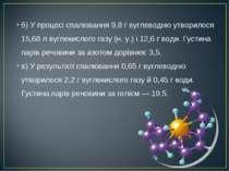 б) У процесі спалювання 9,8 г вуглеводню утворилося 15,68 л вуглекислого газу...