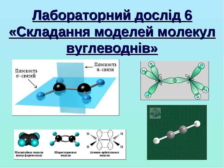 Лабораторний дослід 6 «Складання моделей молекул вуглеводнів»