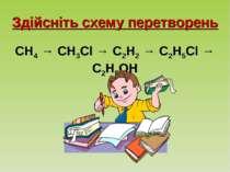Здійсніть схему перетворень CH4 → CH3Cl → C2H2 → C2H5Cl → C2H5OH