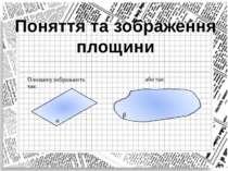 Поняття та зображення площини