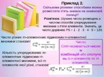 Приклад 2. Скількома різними способами можна розмістити п'ять книжок на книжк...