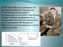 В 1937 Клод Шеннон предствить до захисту кандидатську дисертацію Символічний ...