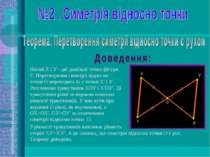 Нехай X і У - дві довільні точки фігури F. Перетворення симетрії відносно точ...