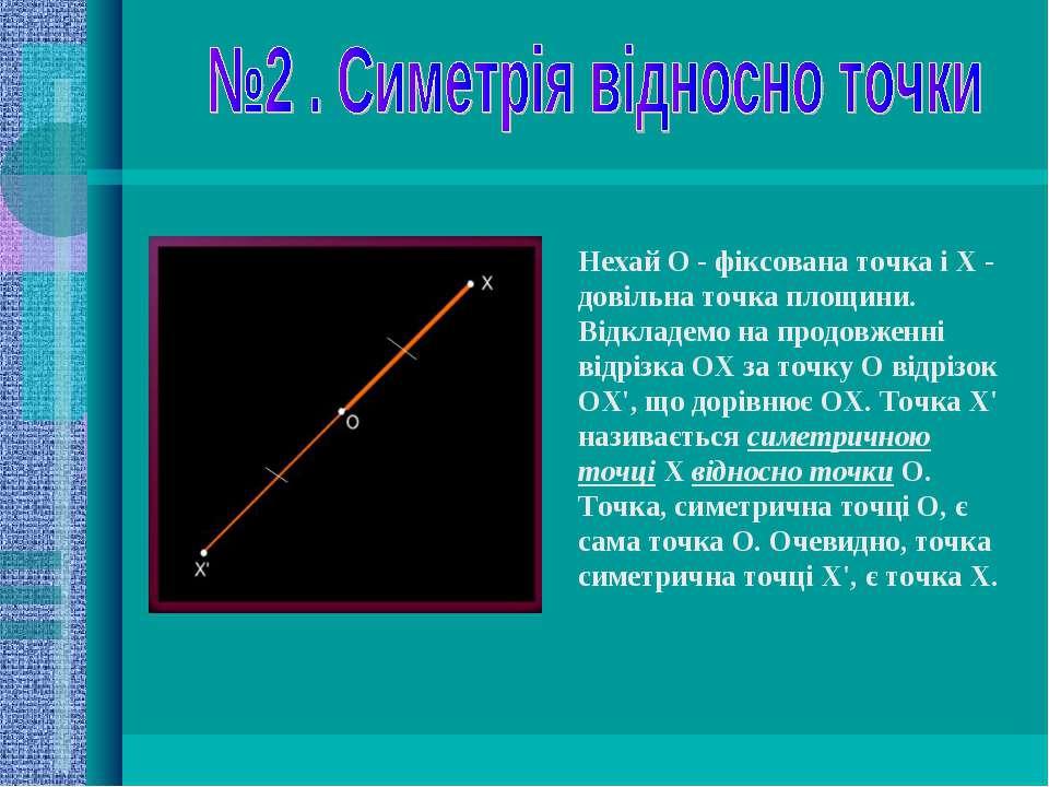 Нехай О - фіксована точка і X - довільна точка площини. Відкладемо на продовж...