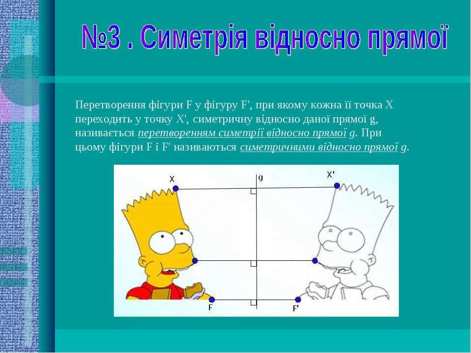 Перетворення фігури F у фігуру F', при якому кожна її точка X переходить у то...
