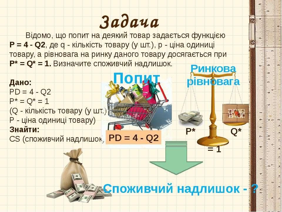 Відомо, що попит на деякий товар задається функцією P = 4 - Q2, де q - кількі...