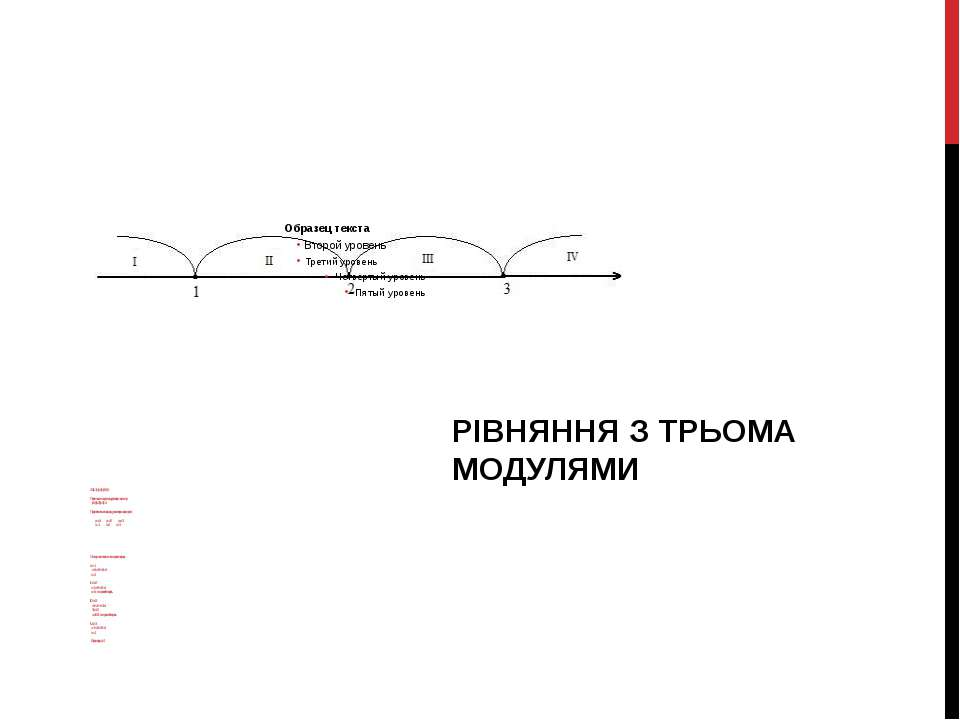 2.0 |х-1|+|х-2|= |х-3|+4 Переносимо усі модулі в ліву частину: |х-1|+|х-2|-|х...
