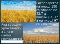 Господарство на площі 150 га зібрало по 32,7 ц пшениці з 1га, а на площі 97 г...
