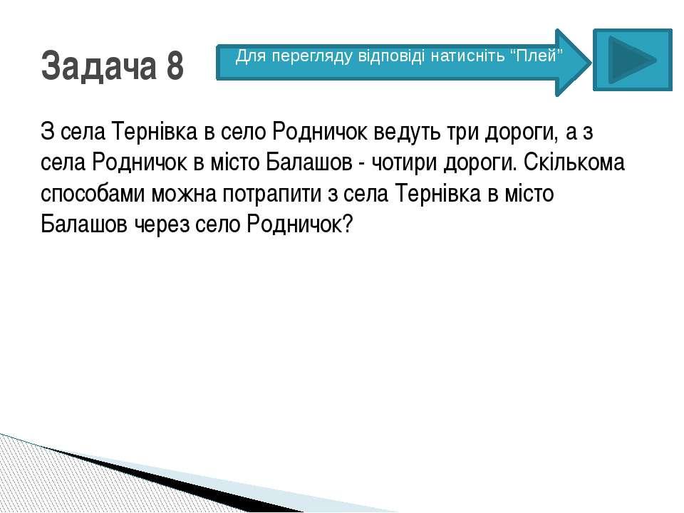 З села Тернівка в село Родничок ведуть три дороги, а з села Родничок в місто ...
