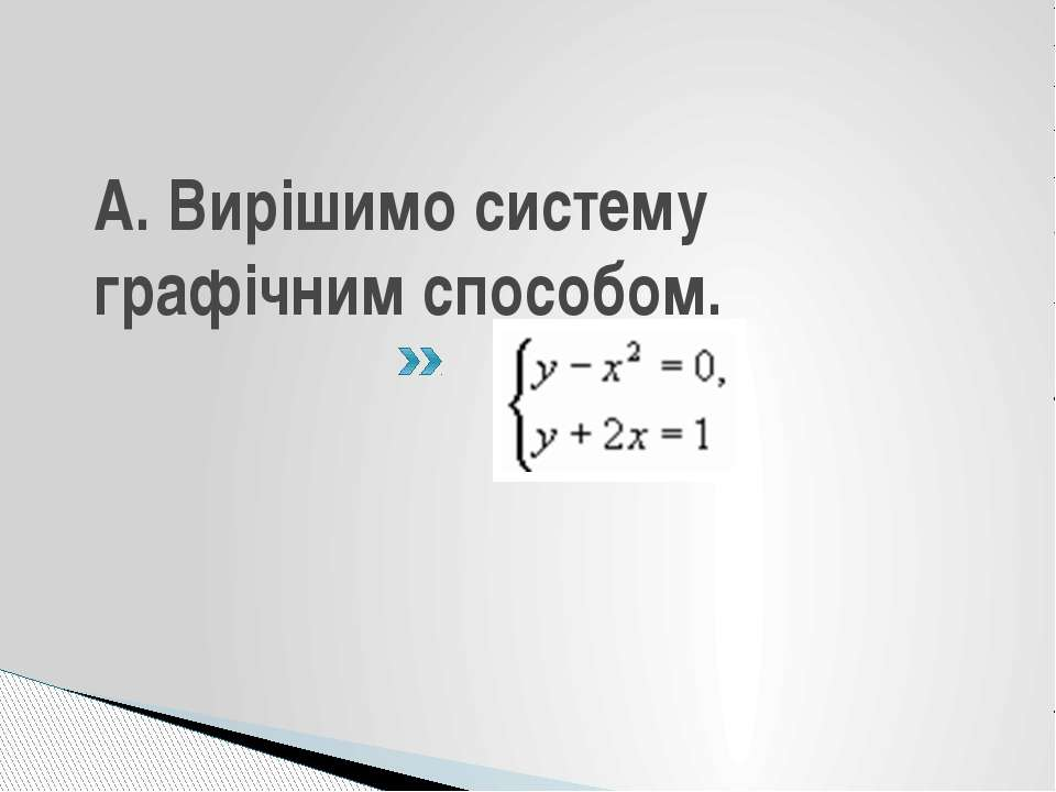 А. Вирішимо систему графічним способом.