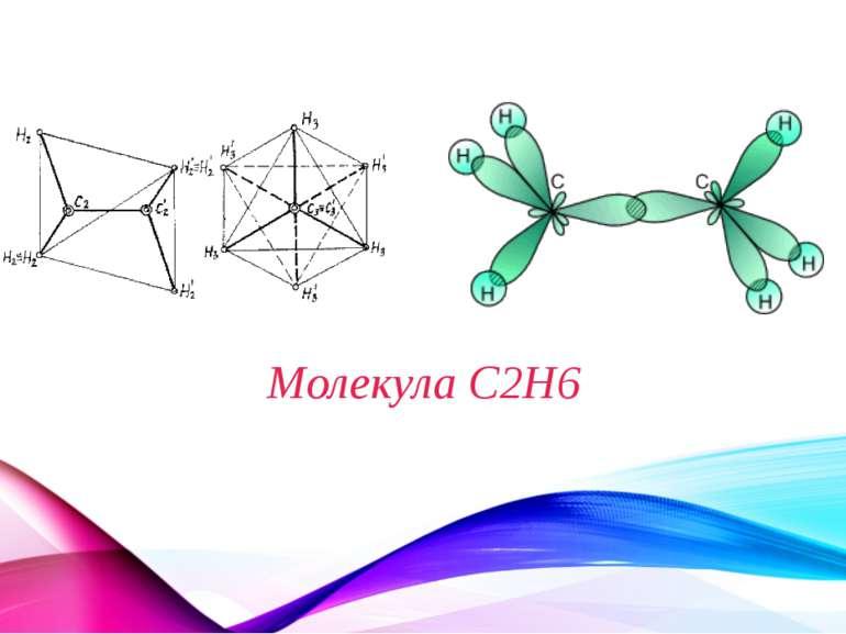 Молекула C2H6