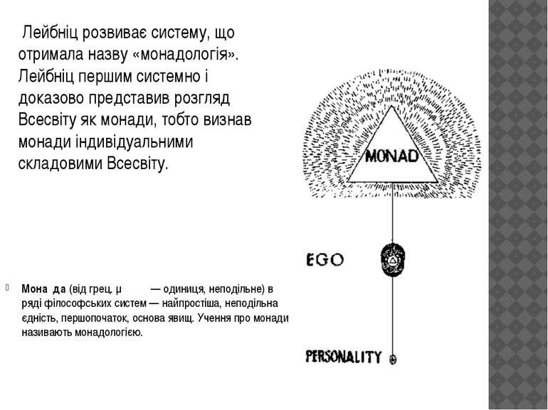 Мона да(відгрец.μονάς— одиниця, неподільне) в рядіфілософських систем— ...