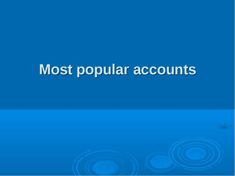 Most popular accounts