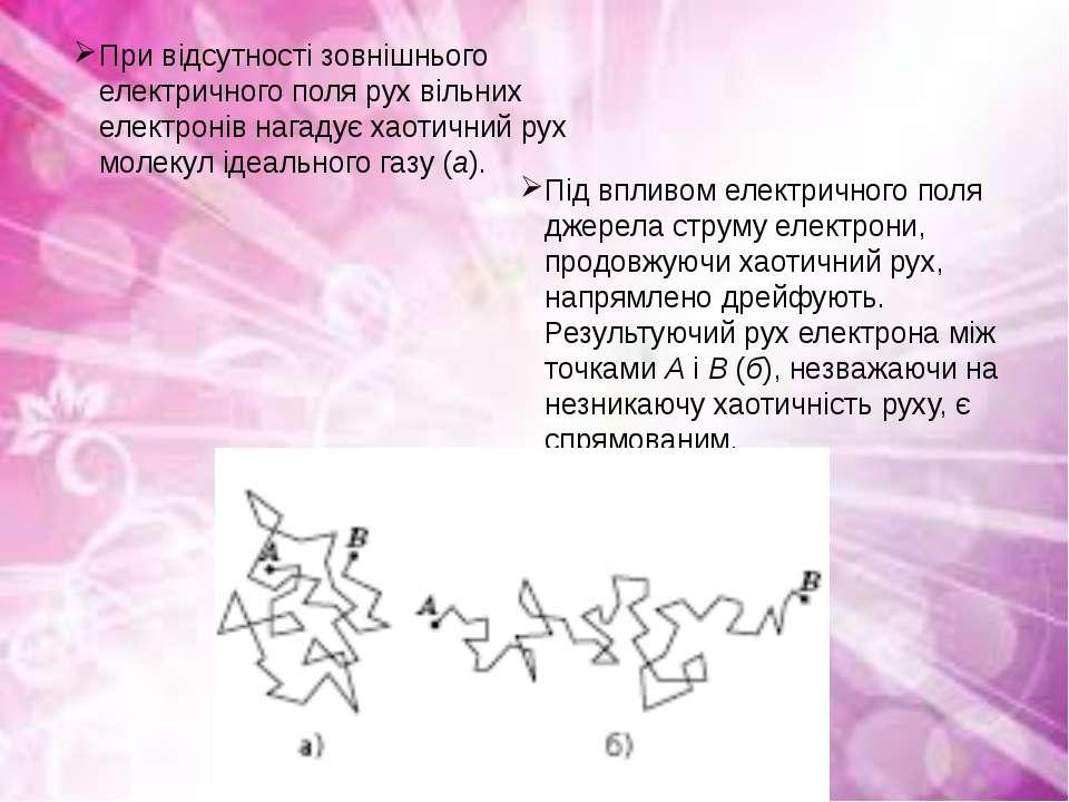 При відсутності зовнішнього електричного поля рух вільних електронів нагадує ...